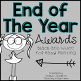 End of Year Awards {Black and White for Easy Printing}