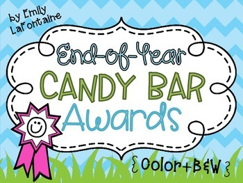 End of Year Candy Bar Awards - 30 awards in color and B&W, w/ or w/o graphics!