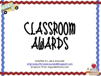 End of Year Classroom Awards