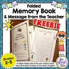 End of Year Memory Book ~ Note From the Teacher & Autograp