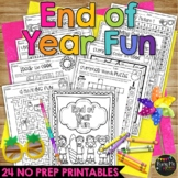 End of Year Fun Summer Packet K, 1, 2 BEACH THEME