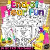 End of Year Fun Summer Packet K, 1, 2 BEACH THEME
