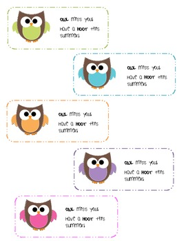 End of Year Gift: Owl miss you!