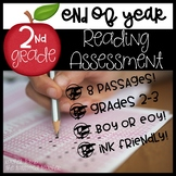 End of Year Reading ELA Assessment for 2nd-3rd grade!