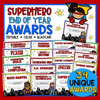 Awards for End of Year Super Heroes