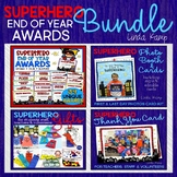 Awards End of Year Superhero Photo Booth, Editable Cards &