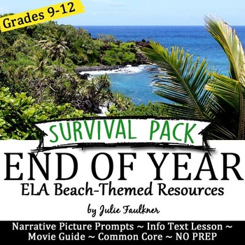 End of Year Survival Pack of NO PREP Lessons, Summer Beach-Themed