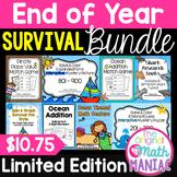 End of Year Survival Math Bundle