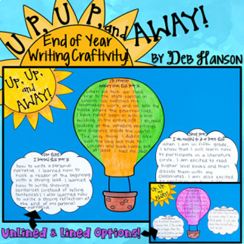 End of Year Writing Craftivity: Up, Up, and Away!