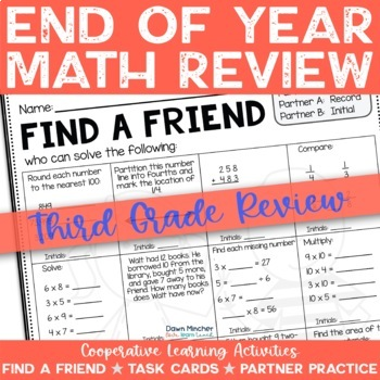 End of the School Year: Math Review of Grade 3 Concepts - CCSS Aligned