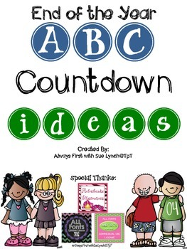 End of the Year ABC Countdown IDEAS~Freebie!