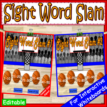 End of the Year Activities Sight Words PowerPoint Game