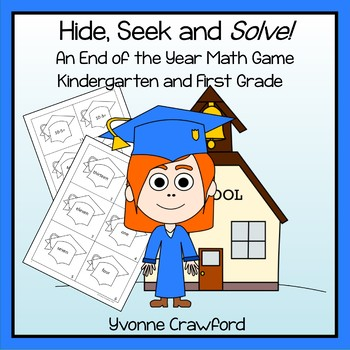End of the Year Math Game - Hide, Seek and Solve (kinderga