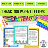 End of the Year Letter to Parents {Editable}