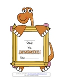 End of the Year Memory Book with Dino Clip Art