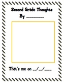 End of the Year Second Grade Thoughts Book