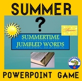 End of the Year - Summer Jumbled Words PowerPoint Game