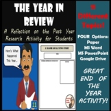 End of the Year - The Year in Review - Research & Writing Booklet
