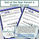 End of the year student and parent surveys