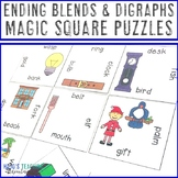 Ending Blends & Digraphs Magic Square Puzzles