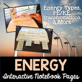 Energy Transformations Interactive Science Notebook Pages