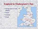England in Shakespeare's Day