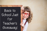 Back to School $100 Teacher Giveaway FREEBIE!