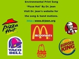 "Environmental Print Song, ""Pizza Hut, Pizza Hut"" by Dr. Jean"