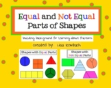 Equal and Not Equal Parts Fraction Background SmartBoard Lesson