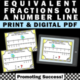 Fractions on a Number Line 3rd Grade Math Task Cards Commo