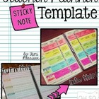 Teacher Lesson Planner Template with Sticky Notes!