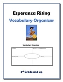 Esperanza Rising Vocabulary Organizer