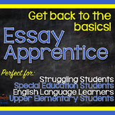 Essay Apprentice - Writing Lessons, Writing Basics for Str