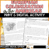 European Colonization in the Americas Packet with Comprehe
