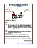 Evaluating Expressions Lesson Plans