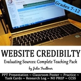 Evaluate Credibility & Validity of Online Sources Unit, PP
