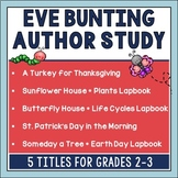 Eve Bunting Spring Author Study Bundle
