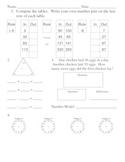 Everyday Math, Grade 3, Unit 2 Review Worksheet #3