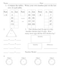 Everyday Math, Grade 3, Unit 2 Review Worksheet #3