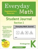 Everyday Math Journal (Kindergarten): Section 1