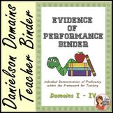 Evidence of Performance Binder