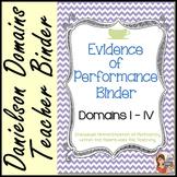 Evidence of Performance Binder (Cafe Chevron Theme)