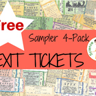 4- Pack of Exit Tickets