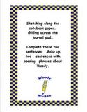 Explorer Woody Writes Set- Creative Writing Activity Cards