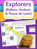 Explorers {Balboa, Hudson, Ponce de Leon} Foldable Study