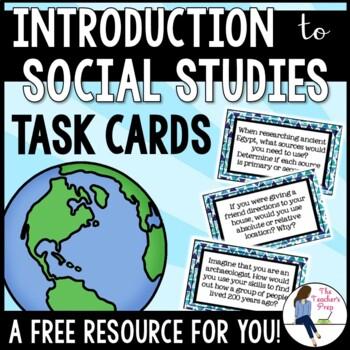 Exploring Social Studies Task Cards FREEBIE