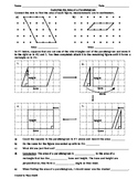 Exploring the Area of Parallelograms Worksheet
