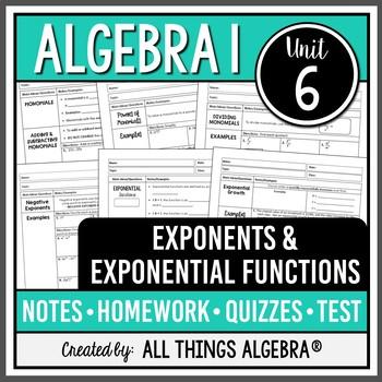 Exponent Rules: Algebra 1 (Unit 6)