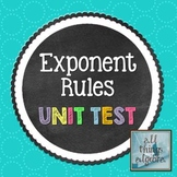Exponent Rules Unit Test
