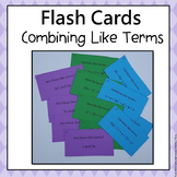 Expressions  Flash Cards  6.EE.3 (Combining Like Terms)
